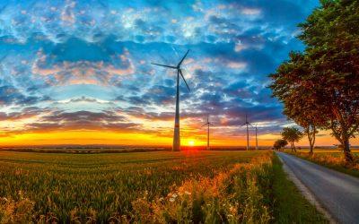Windmolens in de Auvergnepolder Halsteren